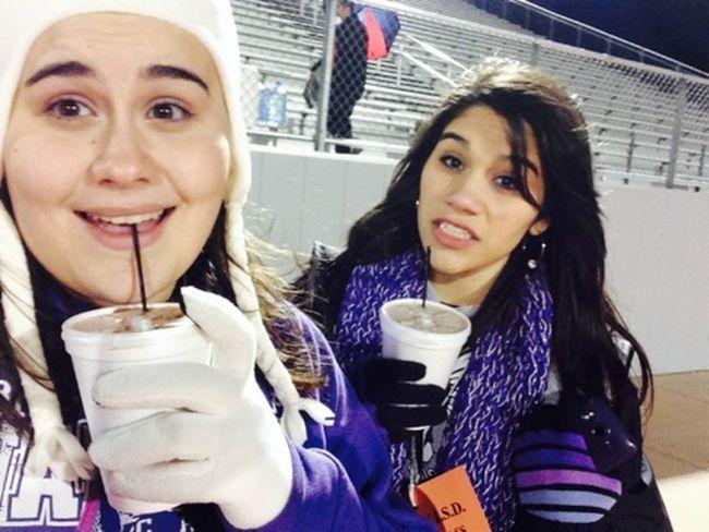 Hot chocolate can't even keep us warm :/ below 30s out here !*&$ Football Touchdown Taking Photos Warren Warriors