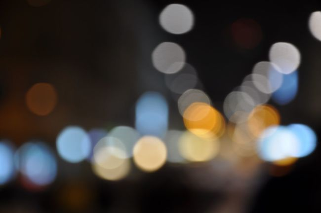 City Lights Abstract City City Light Defocused Horizontal Illuminated Night Outdoors Pattern Polka Dot Spotted