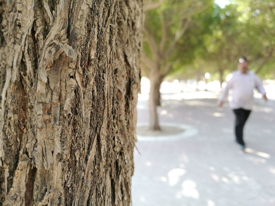 Maximum Closeness Tree Tree Trunk Nature Outdoors Tranquility Trees Are Beautiful Close-up Nature Beauty In Nature Man Walking In The Woods