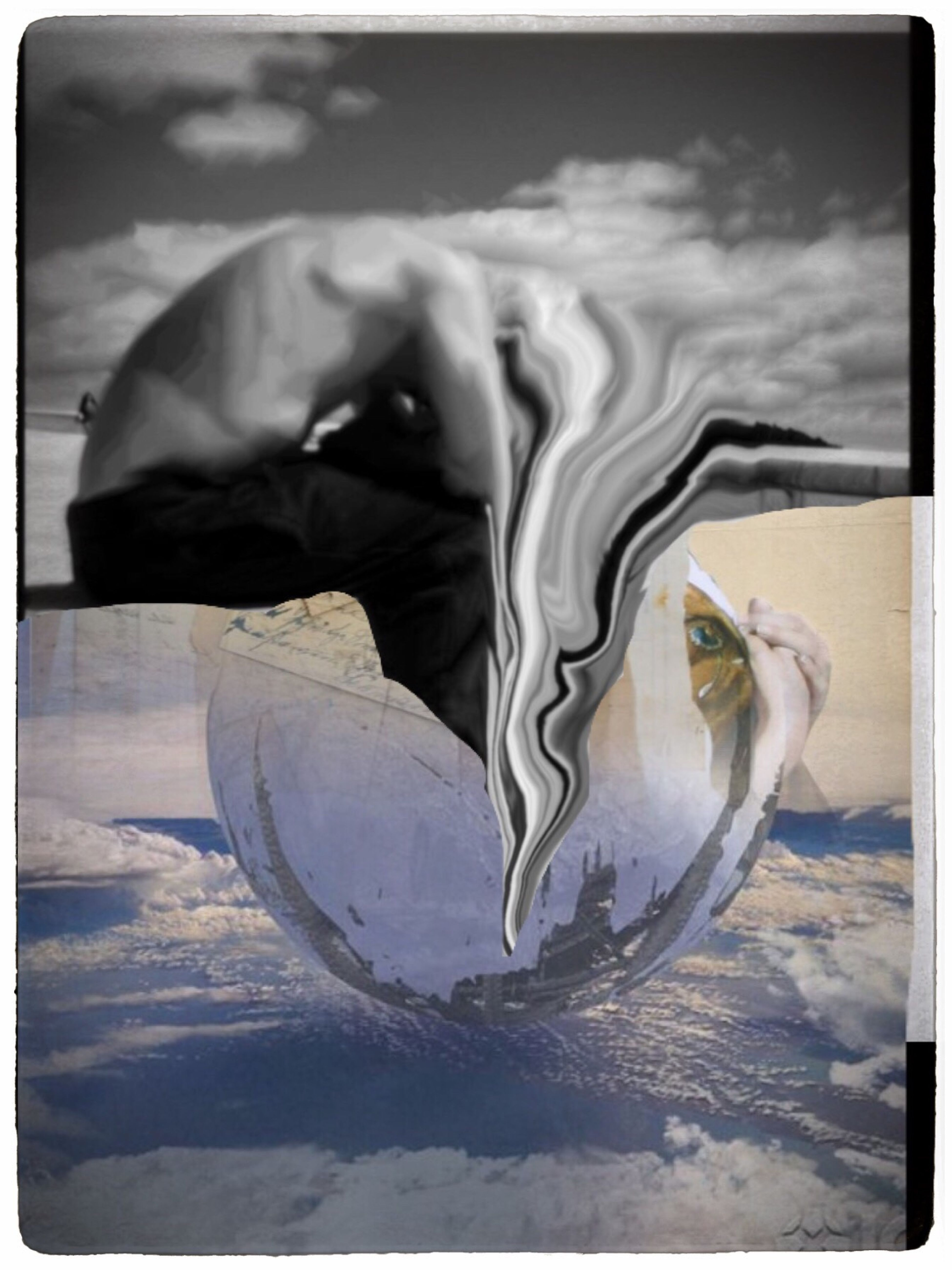 Melting Back Into The Egg Photographic Approximation Exploring The Subconscient Apre Moi Le Collage Forgotten Dreams New Nightmares Primum Non Nocere!