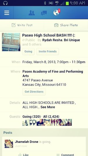 come party with paseo all highschools are invited comment your name and school if u want to come