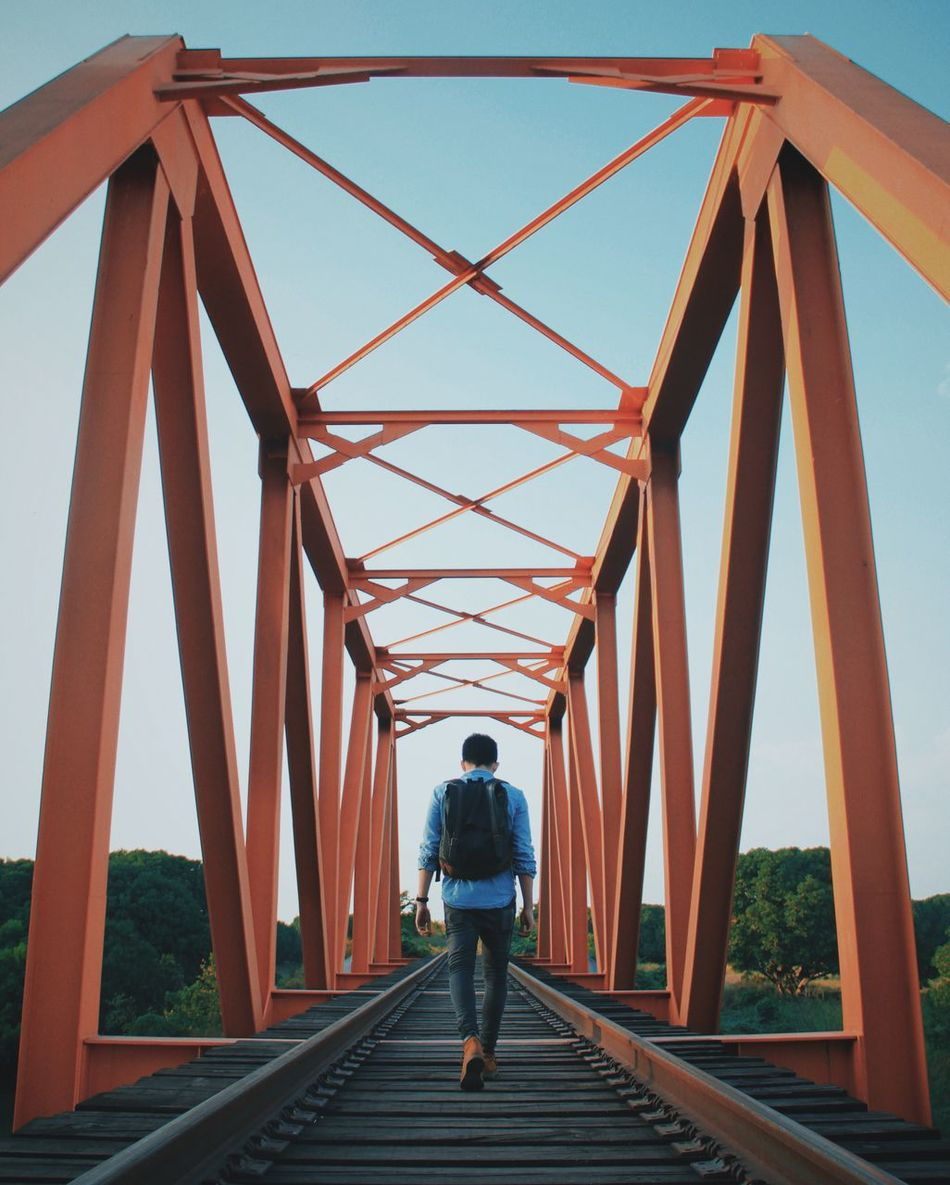 Beautiful stock photos of bahn, Architecture, Backpack, Bridge - Man Made Structure, Built Structure