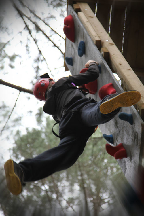 Upwards and Onwards #3 Confidence Building Great Outdoors-EyeEm Awards 2017 Hand Grips Hanging On The Wall One Person Outdoor Adventure Outdoor Climbing Wall Outdoor Training Real People Skill