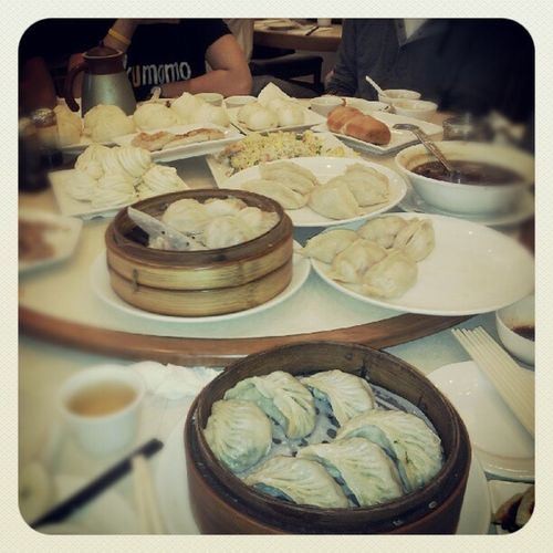 That's what left after we were all full. Overordering Dimsum Toronto