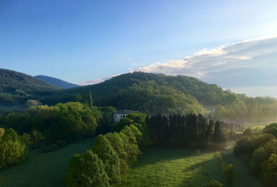 Campagna veneta. Morning View Colli Euganei Galzignano Terme Landscapes Landscape Campagna Veneta Foschia Country Italian Landscapes Italian Country Travel Travel Photography Traveling Italy Italy❤️ Italia