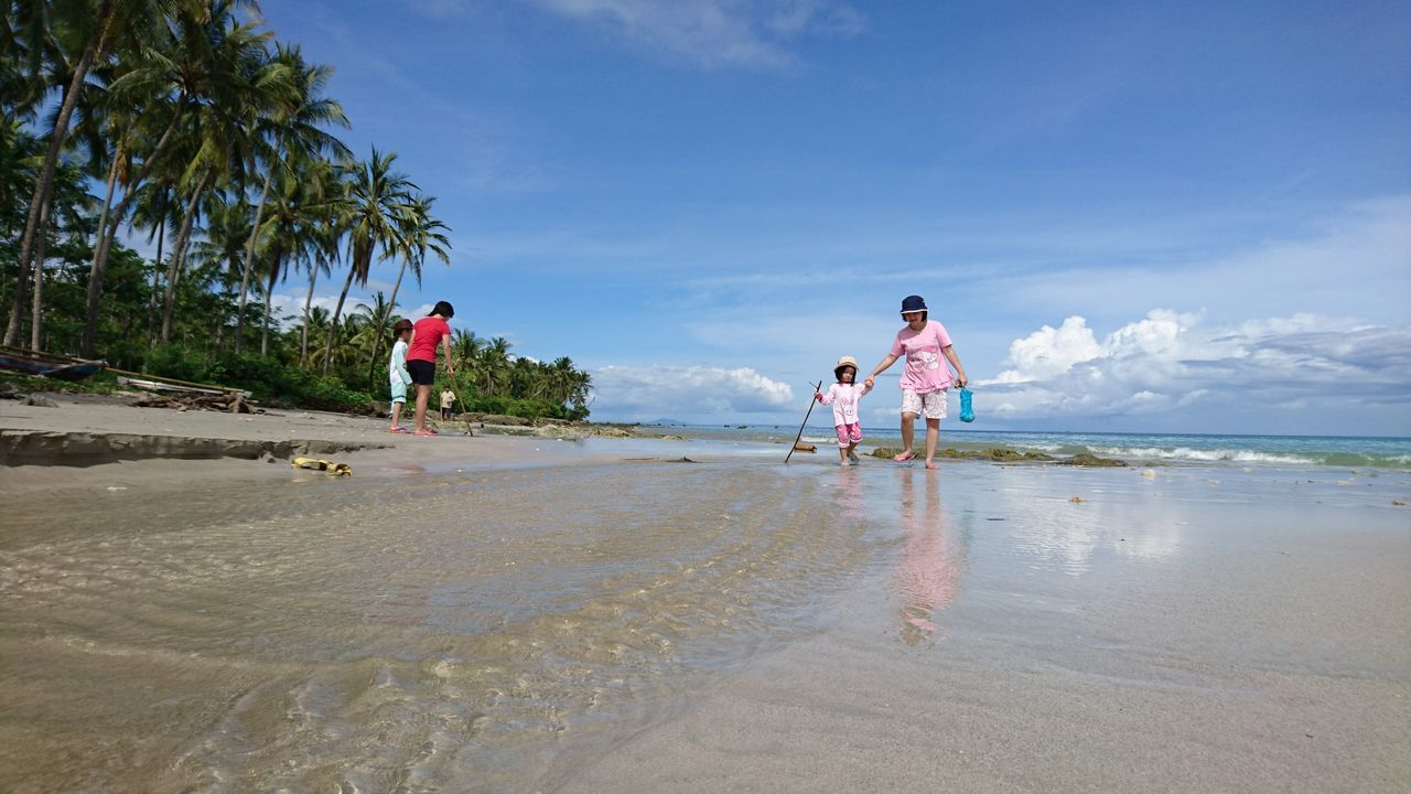 Playing on the beach at Ciputih Beach Resort Ujung Kulon taken on Sony Xperia Z5