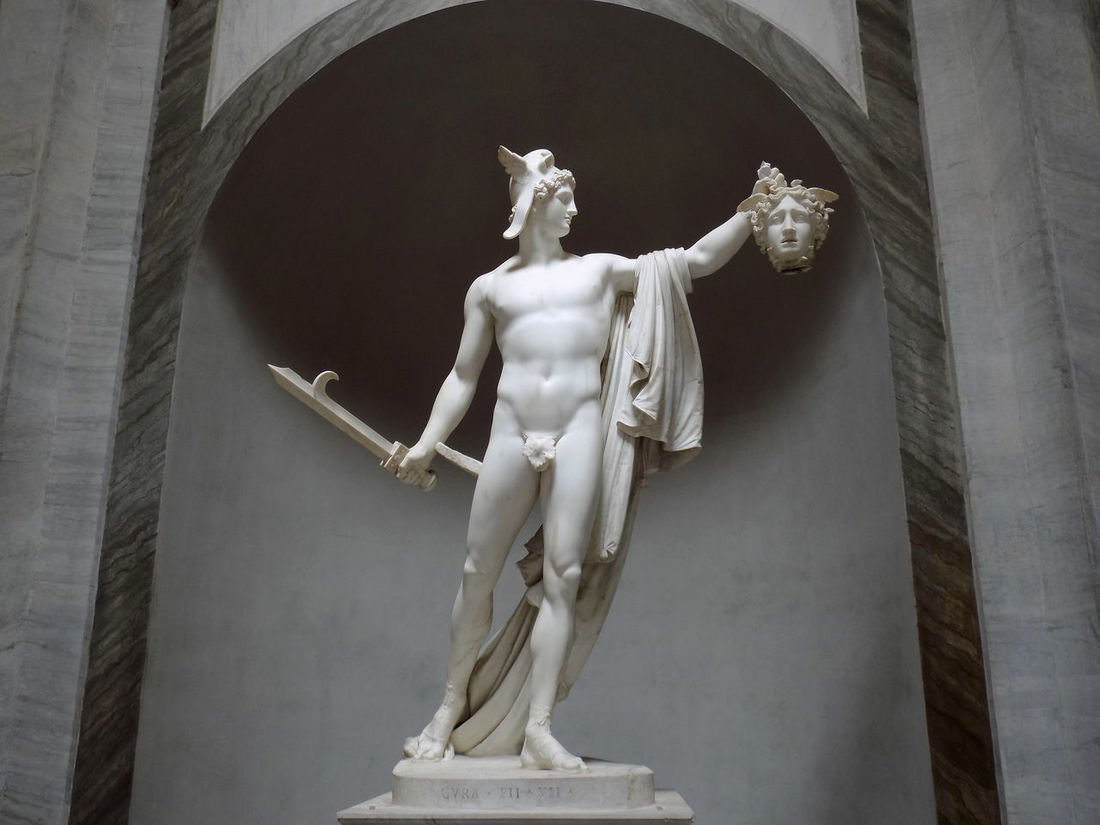 Antonio Canova Art And Craft Arts Culture And Entertainment ArtWork Culture Greek Mythology Human Representation Italian Art Italian Style Italy Literature Masterpiece Medusa Must See No People Perfection Perseus Rome Sculpture Statue Vatican Vatican Museum