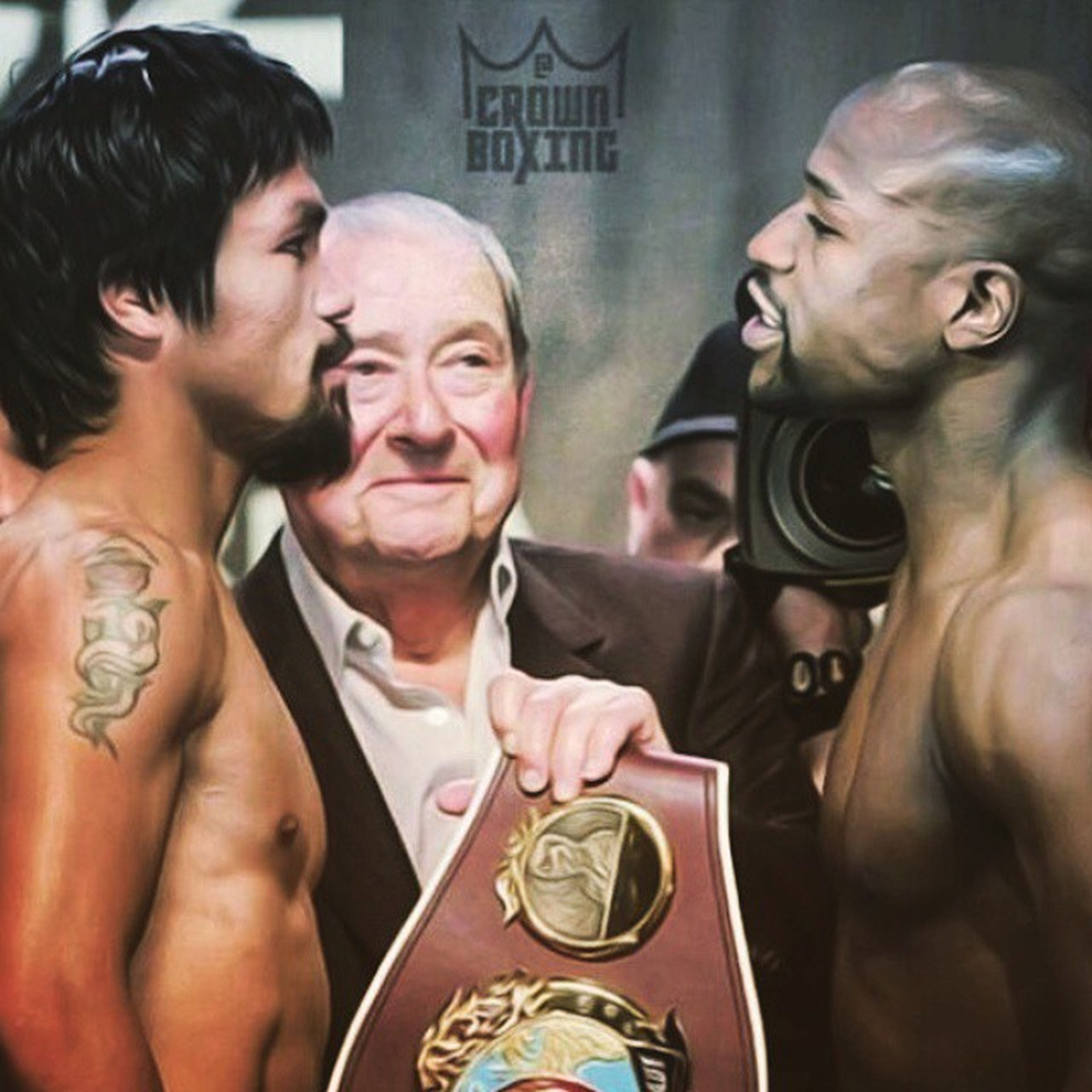 Pacquiao vs Mayweather, who's your pick to win? Me? I'm with the underdog though. Picture by Crown Boxing. CrownBoxing Mannypacquiao Floydmayweather MannyVsFloyd .