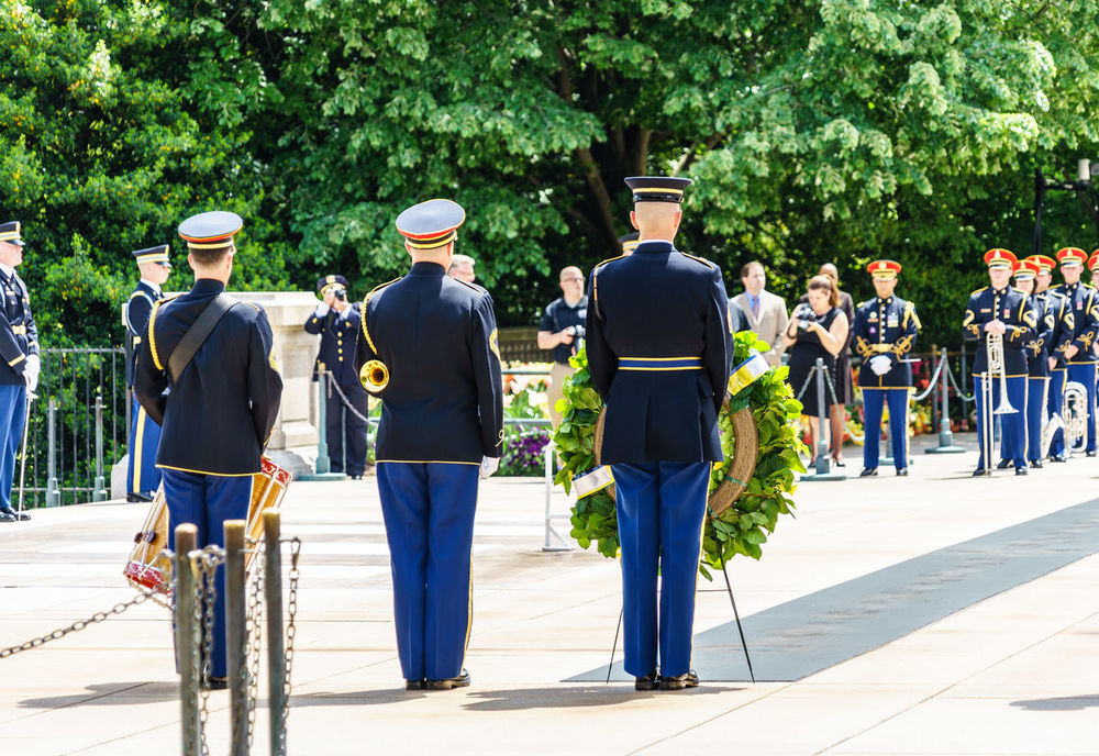 Arlington National Cemetery Armed Forces Casual Clothing City Life Day Footpath Full Length Graveyard Group Of People Heroes Honor Guard Leisure Activity Lifestyles Medium Group Of People Military Outdoors Police Respect Side By Side Soldiers The Way Forward Tomb Of The Unknown Soldier Tree Up Close Street Photography Washington, D. C.