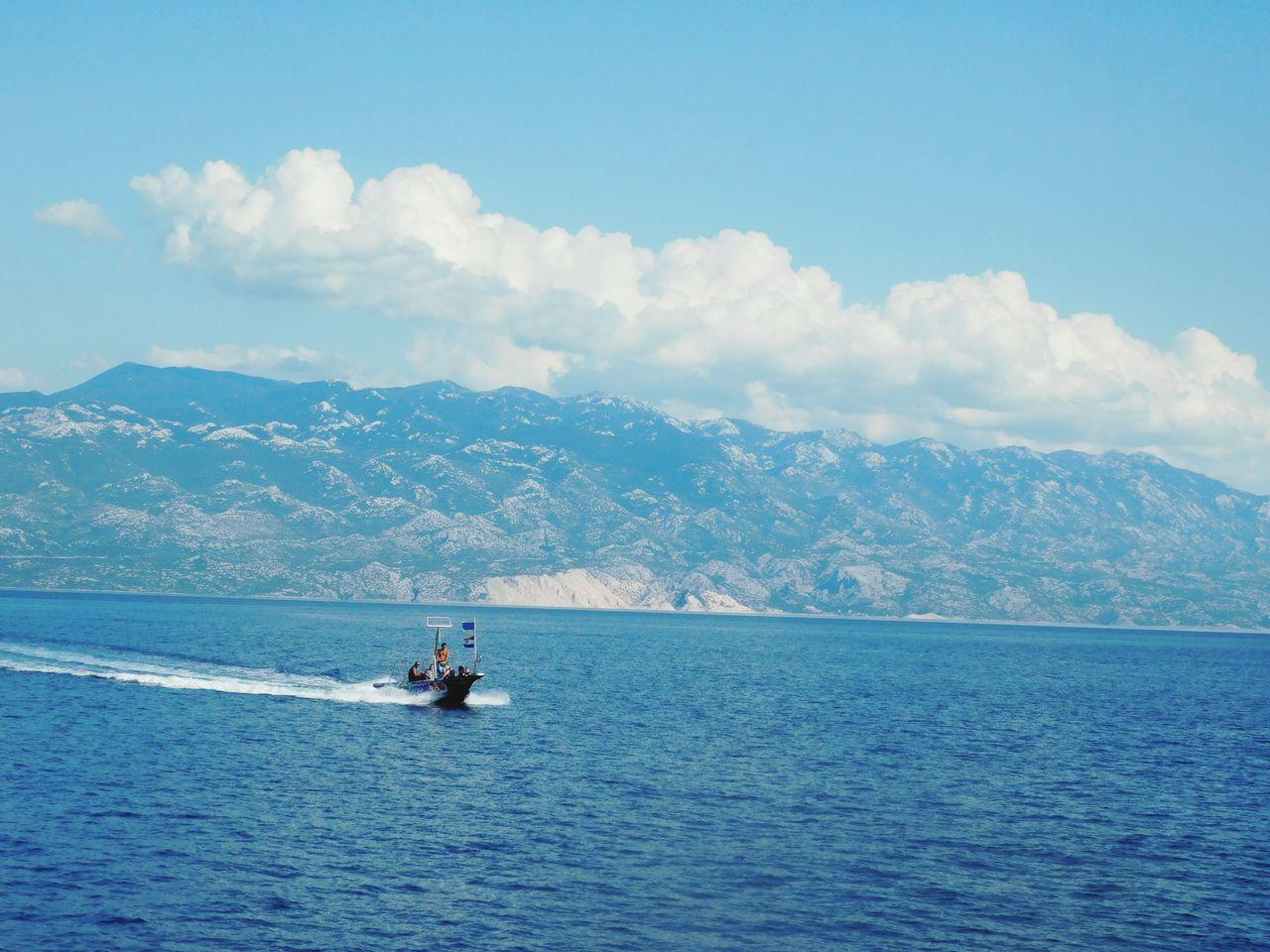 Sea And Sky Sea Seaside Boat Croatia Krk Island Crikvenica Freedom Freelance Life Adriatic Sea