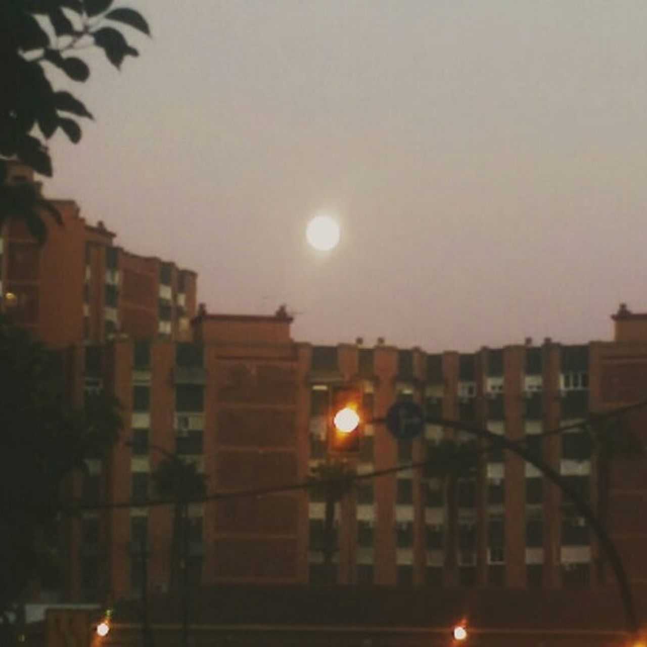 architecture, moon, building exterior, night, city, built structure, sky, illuminated, no people, sunset, outdoors, nature