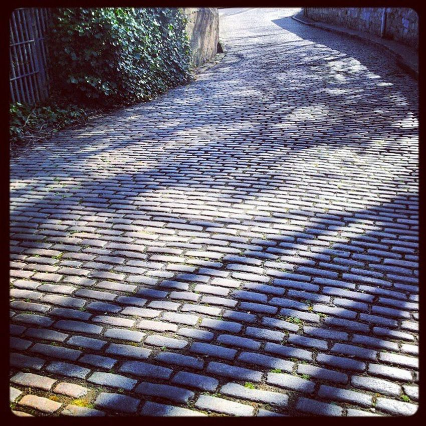 'Shadows' Dysart Fife  Scotland Path Shadows silhouette Cobbles Winding Stone Instagrampolis instagram photography