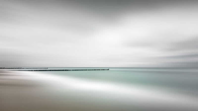 scenic view of sea against sky Baltic Sea Mecklenburg-Vorpommern Ocean View Beach Beachphotography Beauty In Nature Cloud - Sky Day Fine Art Horizon Horizon Over Water Kühlungsborn Long Exposure Muted Colors Nature No People Outdoors Philipp Dase Reflection Scenics Sea Sky Tranquil Scene Tranquility Water Shades Of Winter