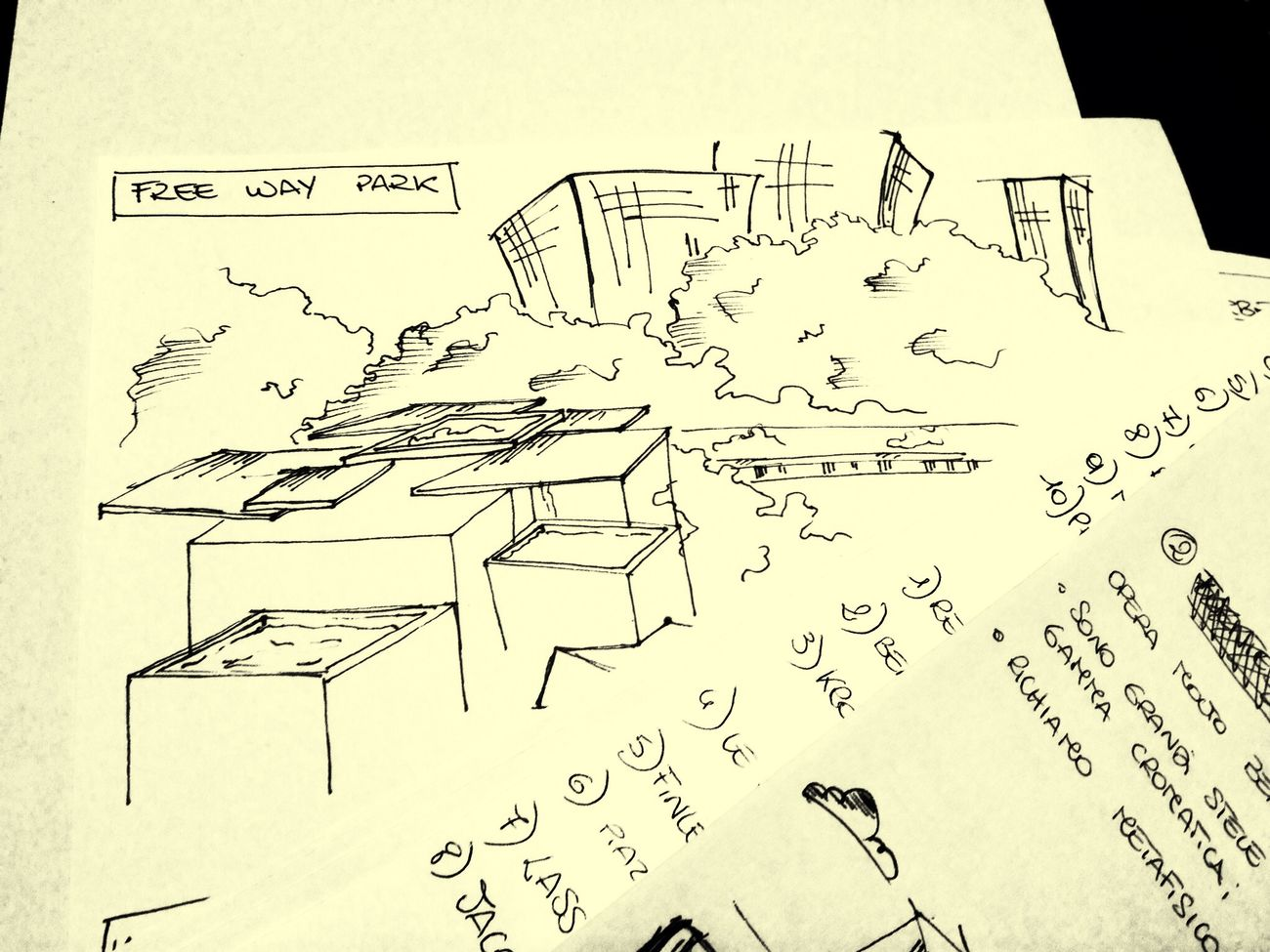Scketch Freewaypark Appunti