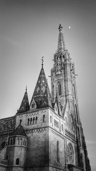 Matyas Church Sky City Mátyás-templom Buda Budapest Budapest, Hungary Church Church Tower History Travel Tourism Tower