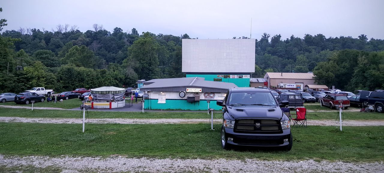 View at the drive-in Day Drive-in Drive-in Movie Drive-in Theater Grass Land Vehicle No People Outdoors Transportation Truck