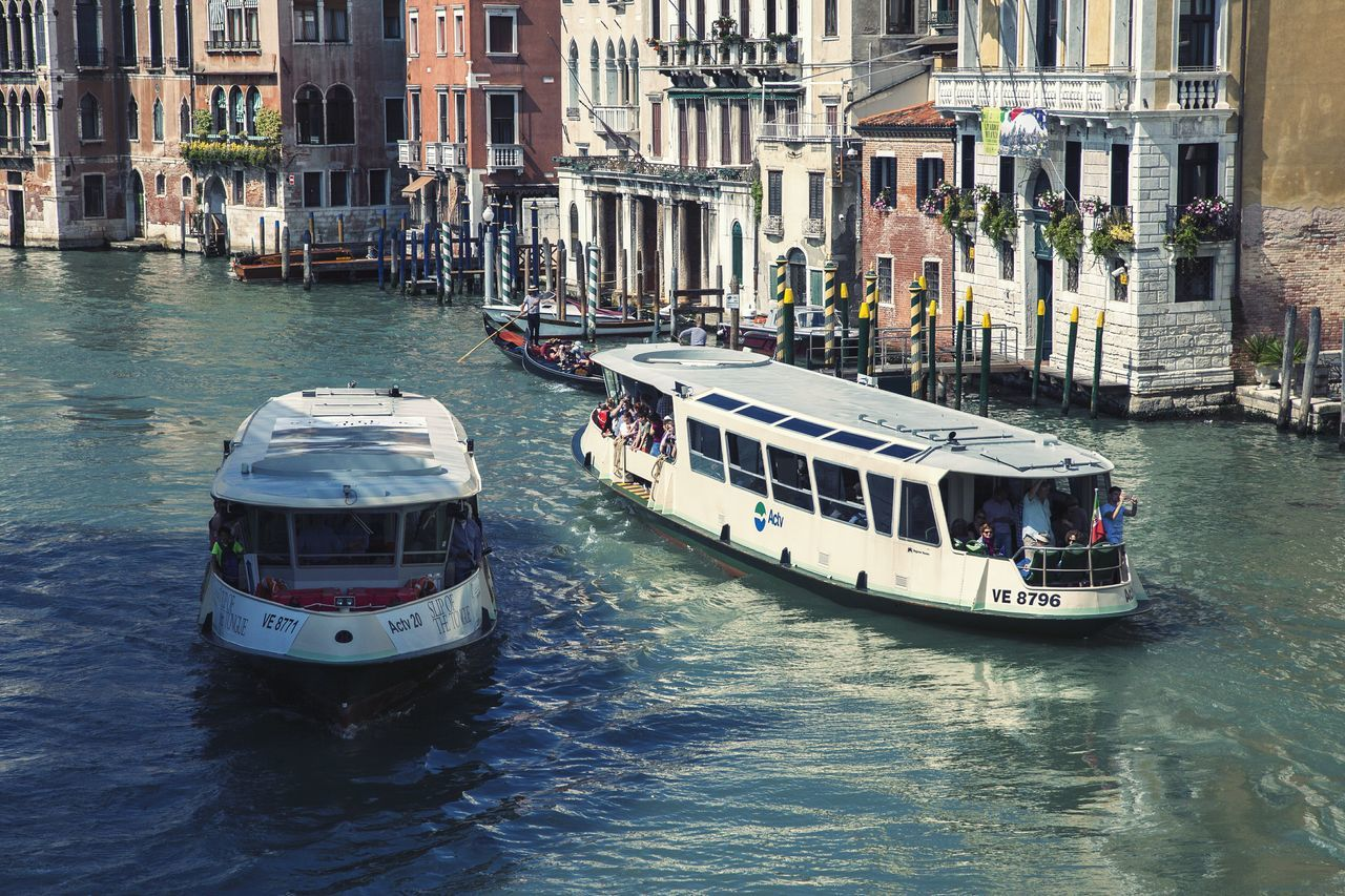 Venice Italy Europe Travel Tourism Canal Grand Canal Water Famous Place Vaporetto Vaporetti Boat Architecture Buildings City Cityscape