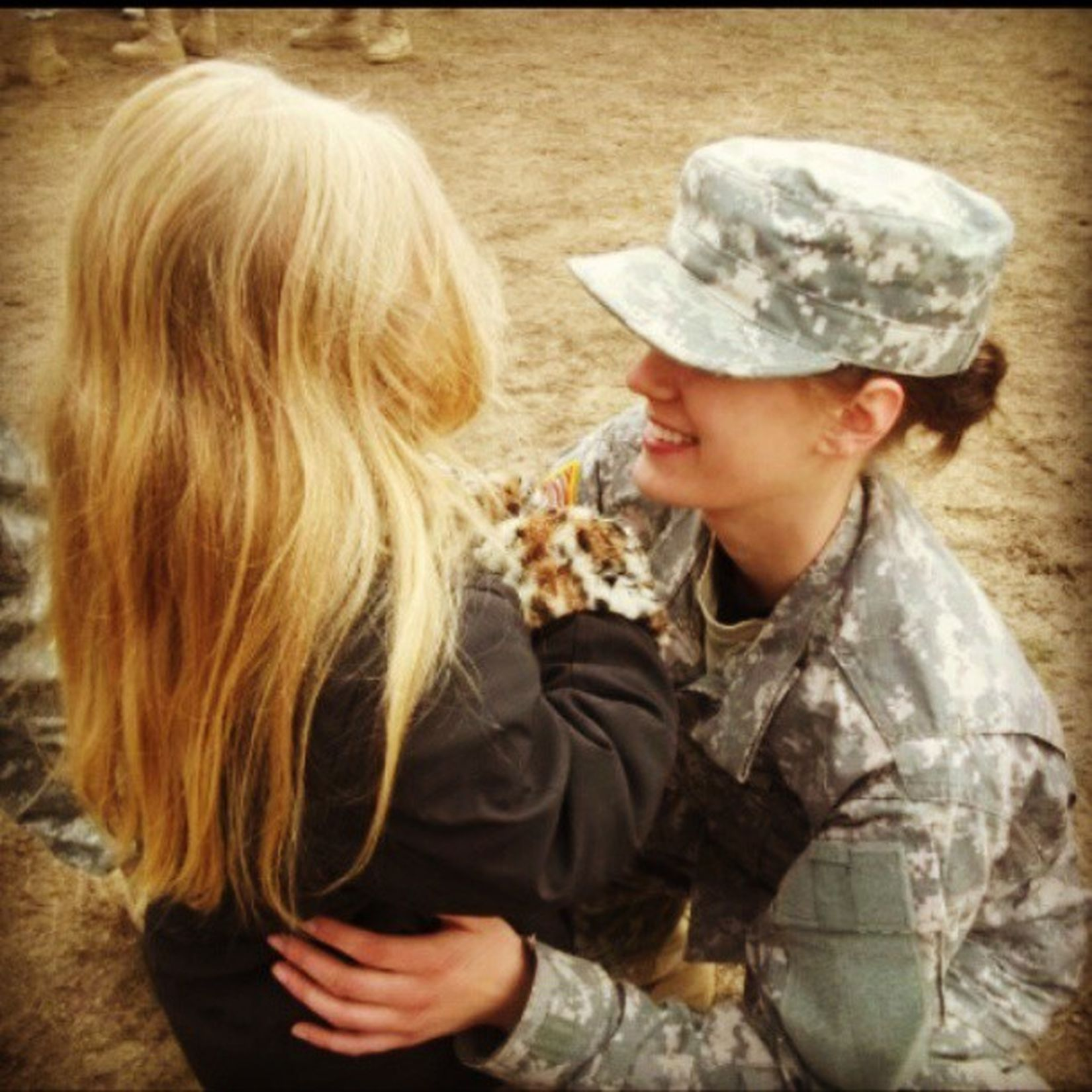 Baby girl sure does Love her Auntie Bestauntever Campripley warrior weekend military drill mnarng army