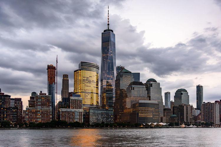 Manhattan New York City Skyline USA Skyscraper Urban Skyline Waterfront