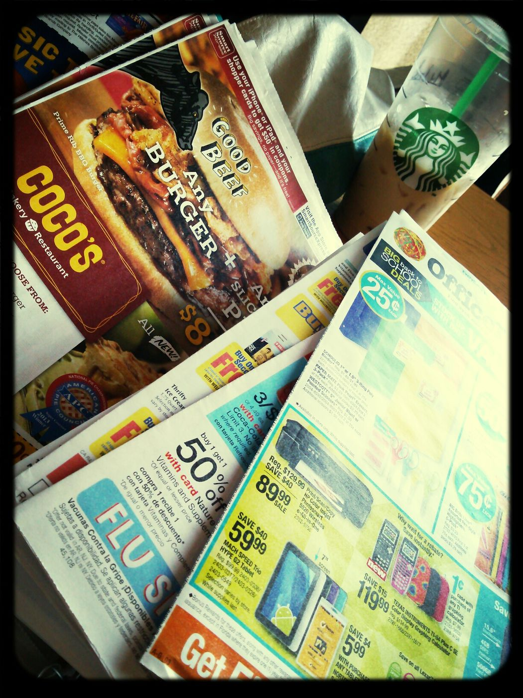 sunday = coupons & starbucks :) Time to find deals