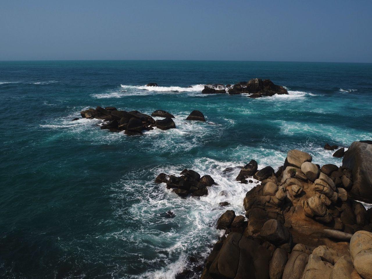 Backpacking Coastline Nature Ocean Sea Traveling Vacations Water