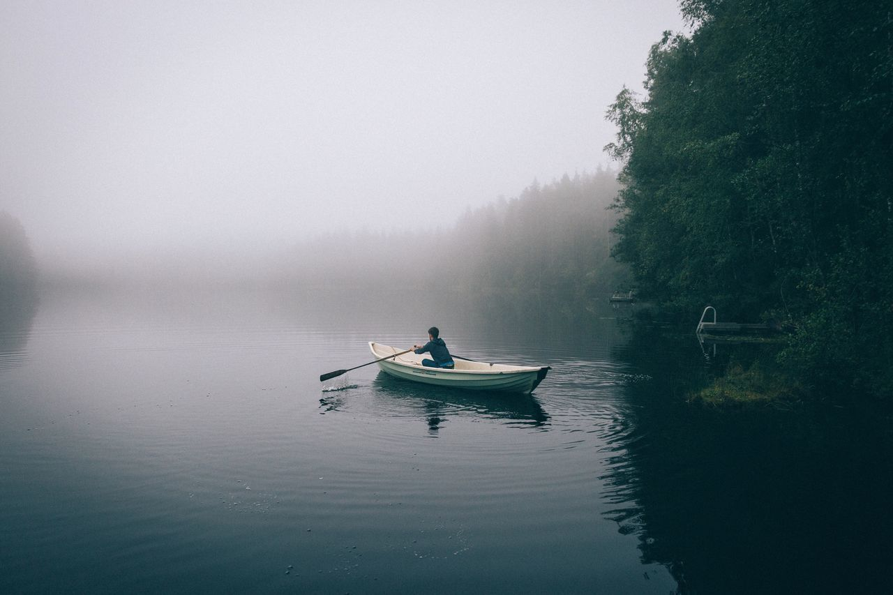 Early morning paddles in Finland Traveling Outdoors Travel EyeEm Best Shots Summer Nature Rural Explore Vscocam Leisure Activity VSCO Landscape Exploring Travel Destinations Photography Mountain Range Dawn Mountain Forest Earth Sunrise Vacations Mist Fog