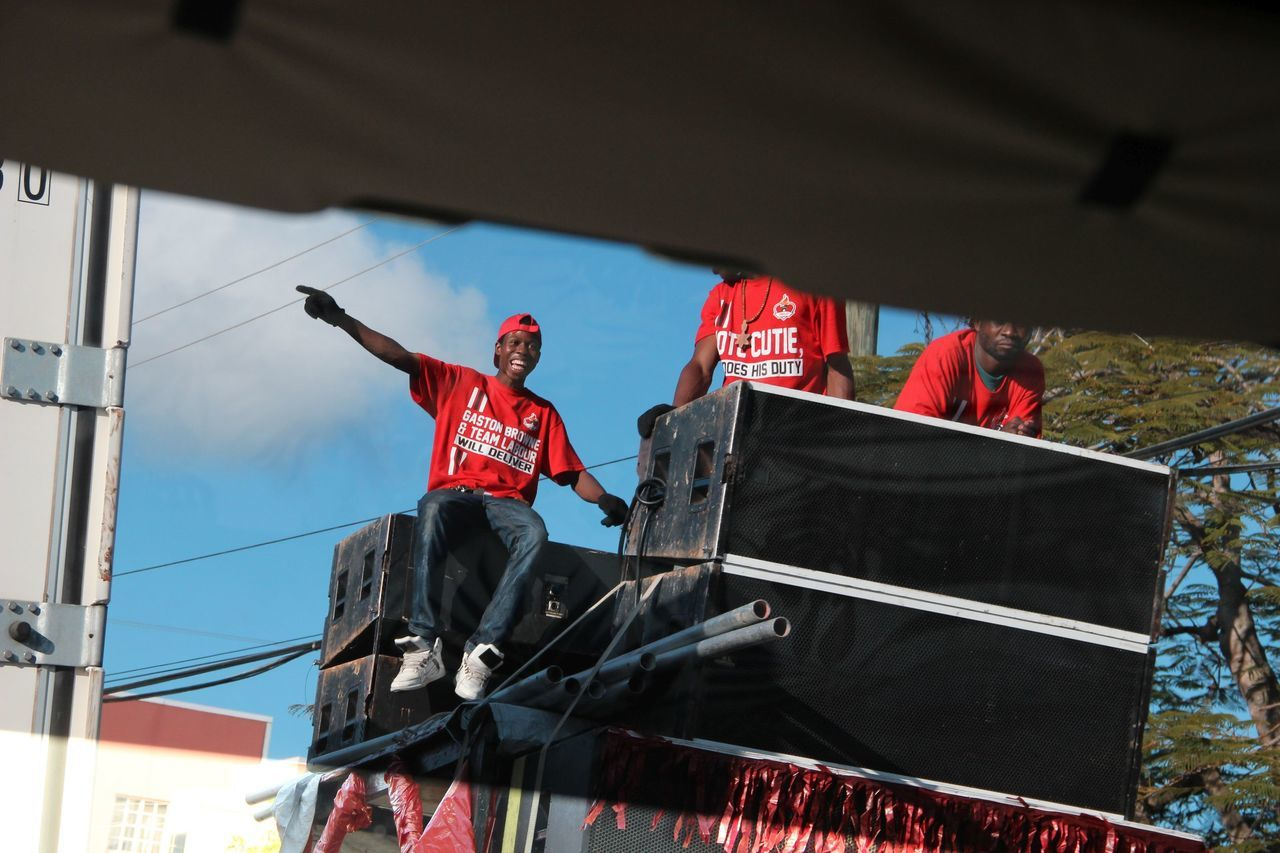Election Campaign Karibik, Antigua, St. Johns Lifestyles Men Real People Vote For Selection