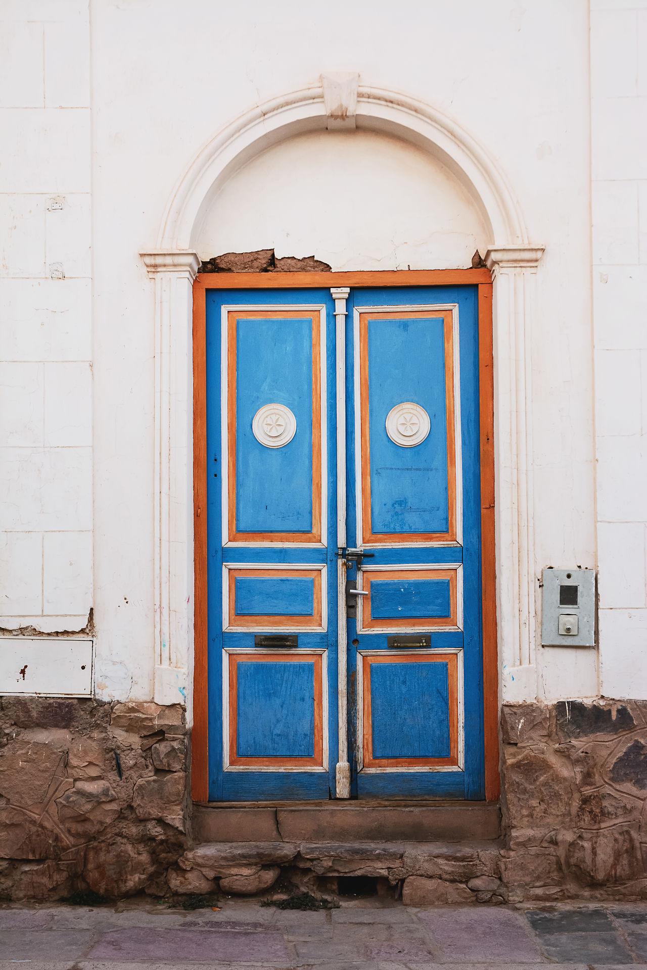 Old colored door in Tilcara of Jujuy(Argentina) America Argentina Blue Building City Door Jujuy Old Street Tilcara Tilcara, Jujuy.
