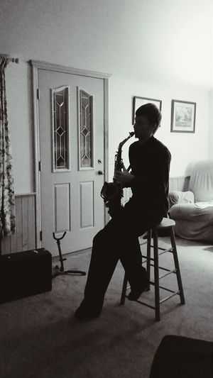 The Places I've Been Today Black And White Blackandwhite Photography Silhouette Saxophone Saxophonelife Musician Playing Music Live Music Music