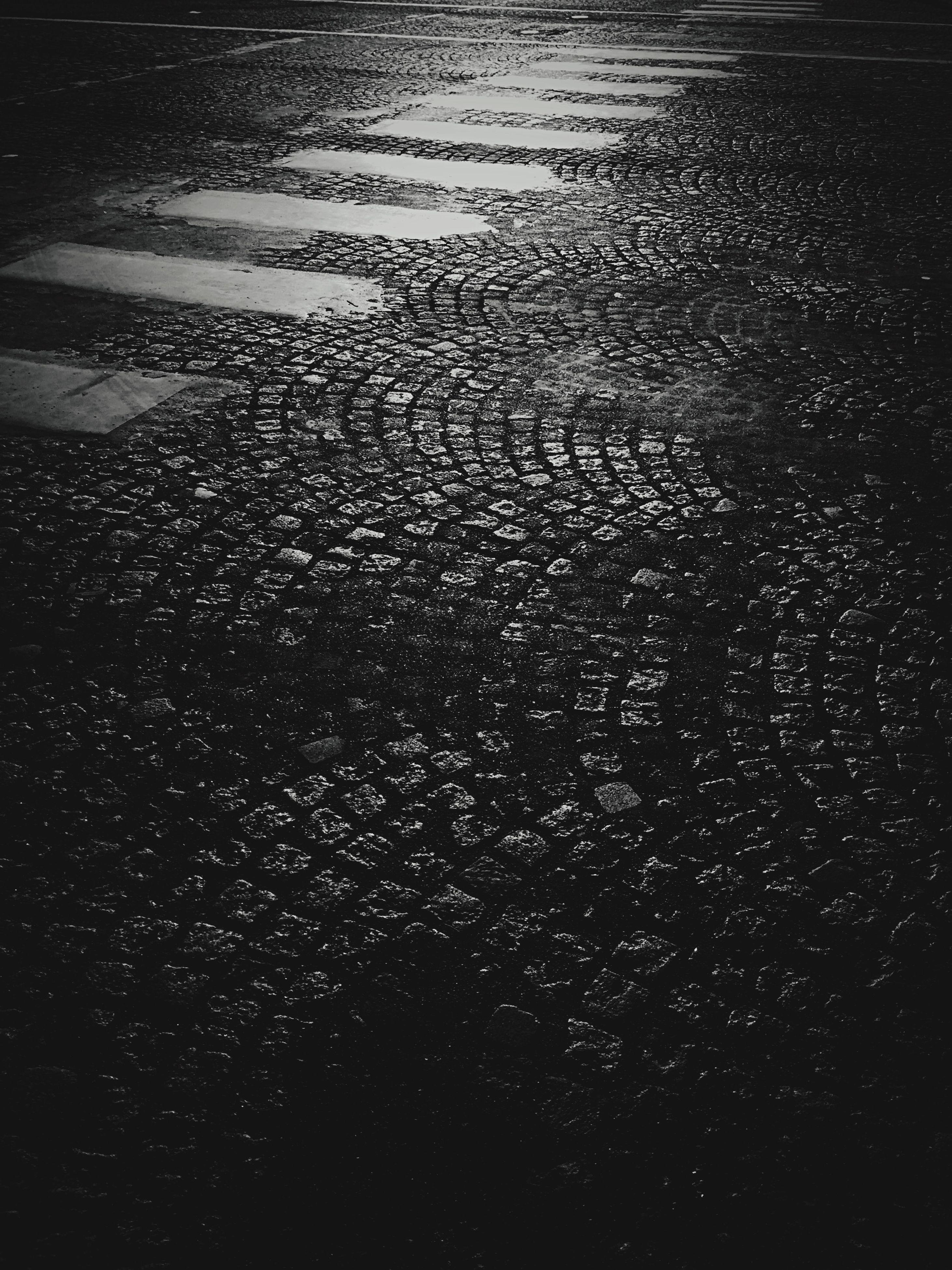 night, water, wet, high angle view, full frame, backgrounds, street, rain, dark, no people, road, nature, outdoors, tranquility, weather, asphalt, season, pattern, reflection, transportation