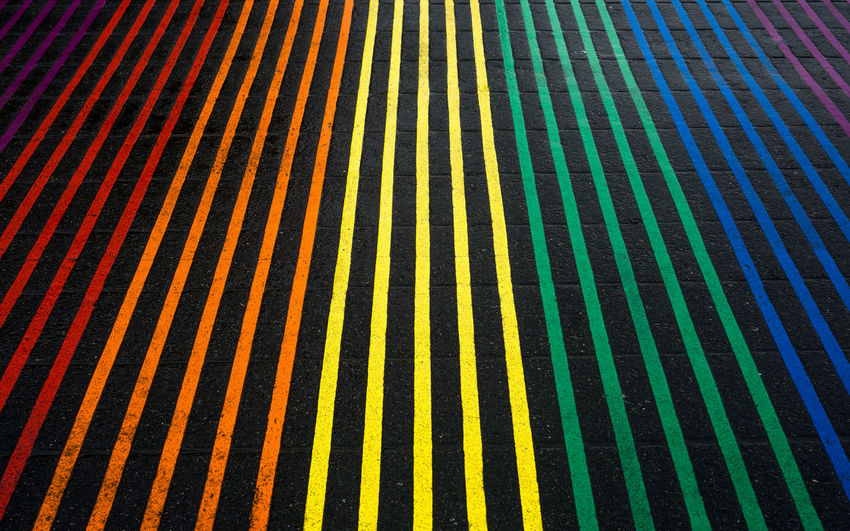 Abstract Backgrounds Castro Close-up Day Diversity Full Frame Lgbt Pride Lgbtq Multi Colored No People Outdoors Pattern Pride Pride Color Rainbow Rainbow Colors Street Art Street Photography Stripes Pattern Stripes Photography Stripes Straight Lines Textured  Unity