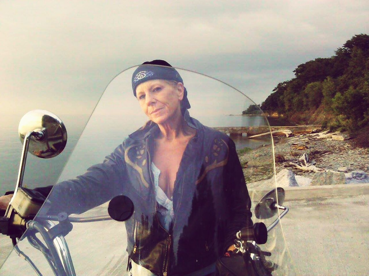 BikerGirl Beauty In Nature Beach Photography Scenery Pennsylvania