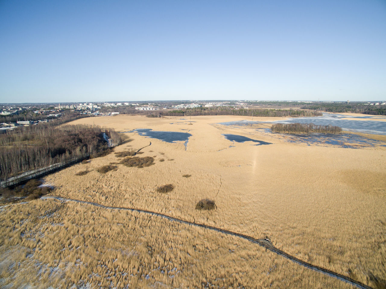 Aerial View Beach Beauty In Nature Blue Clear Sky Copy Space Day Drone  Finland Flying High Helsinki Horizon Over Water Lake Lammassaari Mud Nature Outdoors Sand Scenics Sea Seaside Top View Tranquil Scene Tranquility Travel