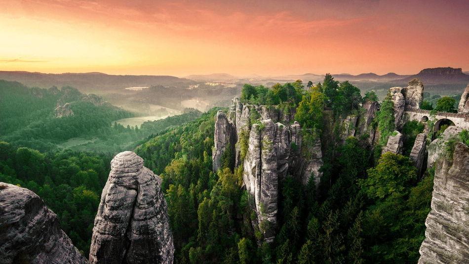 Enjoying Life Hello World Dawn Mountains