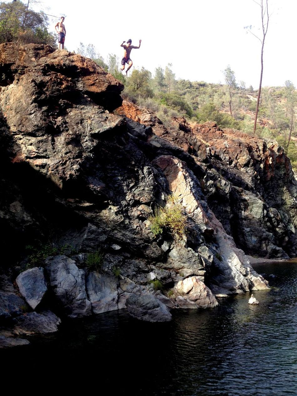 Leap Of Faith into one of our favorite local Swimming Holes, The Essence Of Summer for many living in Chico, California. Summertime Having Fun Falling Daring Jump Kids Being Kids Jumping Jump! Leap Brave Fearless Summer California Love CliffJumping Face Your Fears Cliffside IPhone4s IPhoneography IPhone Photography
