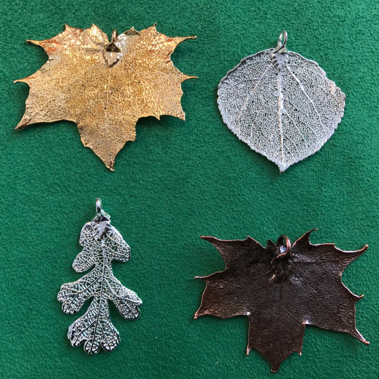 Leaves🌿 Never Dying Leaf Gold Leaf Silver Leaf Copper Leaf Oak Tree Leaf Maple Leaf Aspen Leaf
