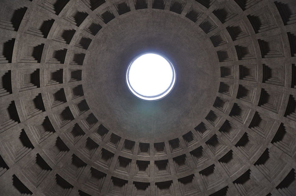 Architecture Art Is Everywhere Built Structure Circle Cupola Geometric Shape History Indoors  Low Angle View Rome Italy Spirituality Tourism Travel Travel Destinations
