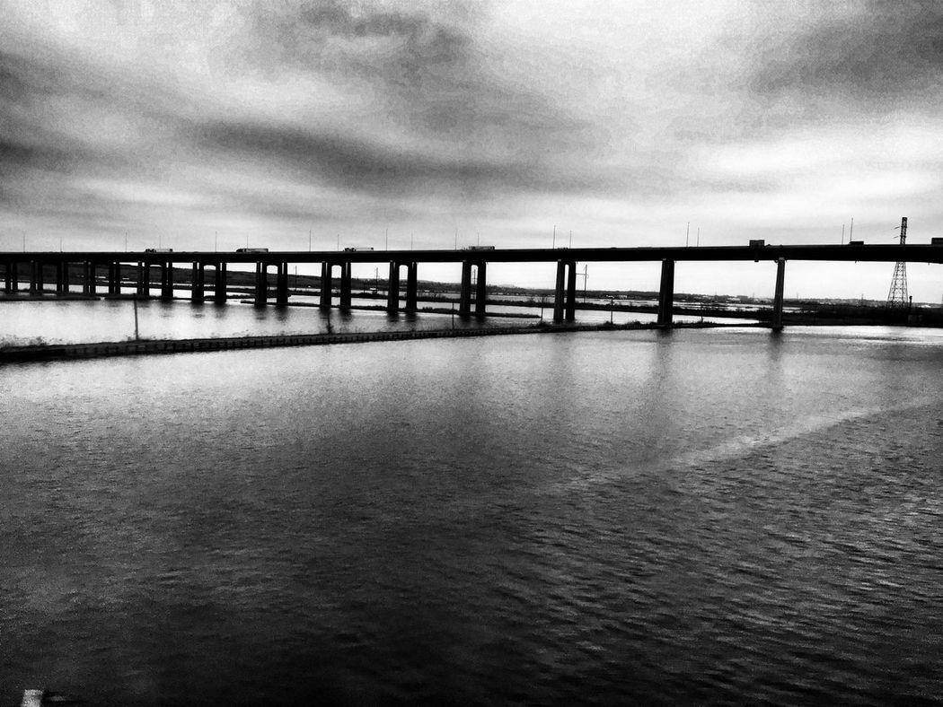 Bridge Water Newjerseyphotographer Newjersey Turnpike Bridge Jersey City IPhoneography