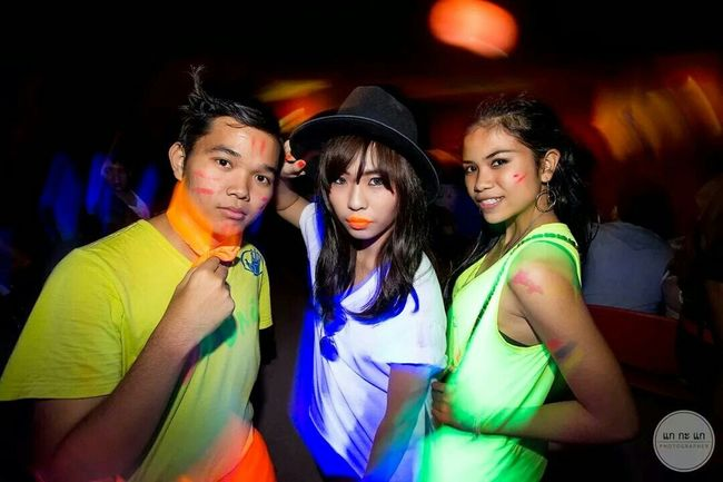 At The Party Fluorescent Full Moon Party Party Time Teen Life Friends Thailand That's Me! Keep Calm And Always Smile Hello World