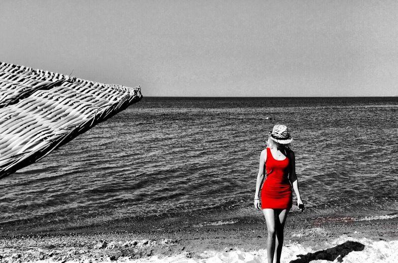 Red Seaside Colorsplash