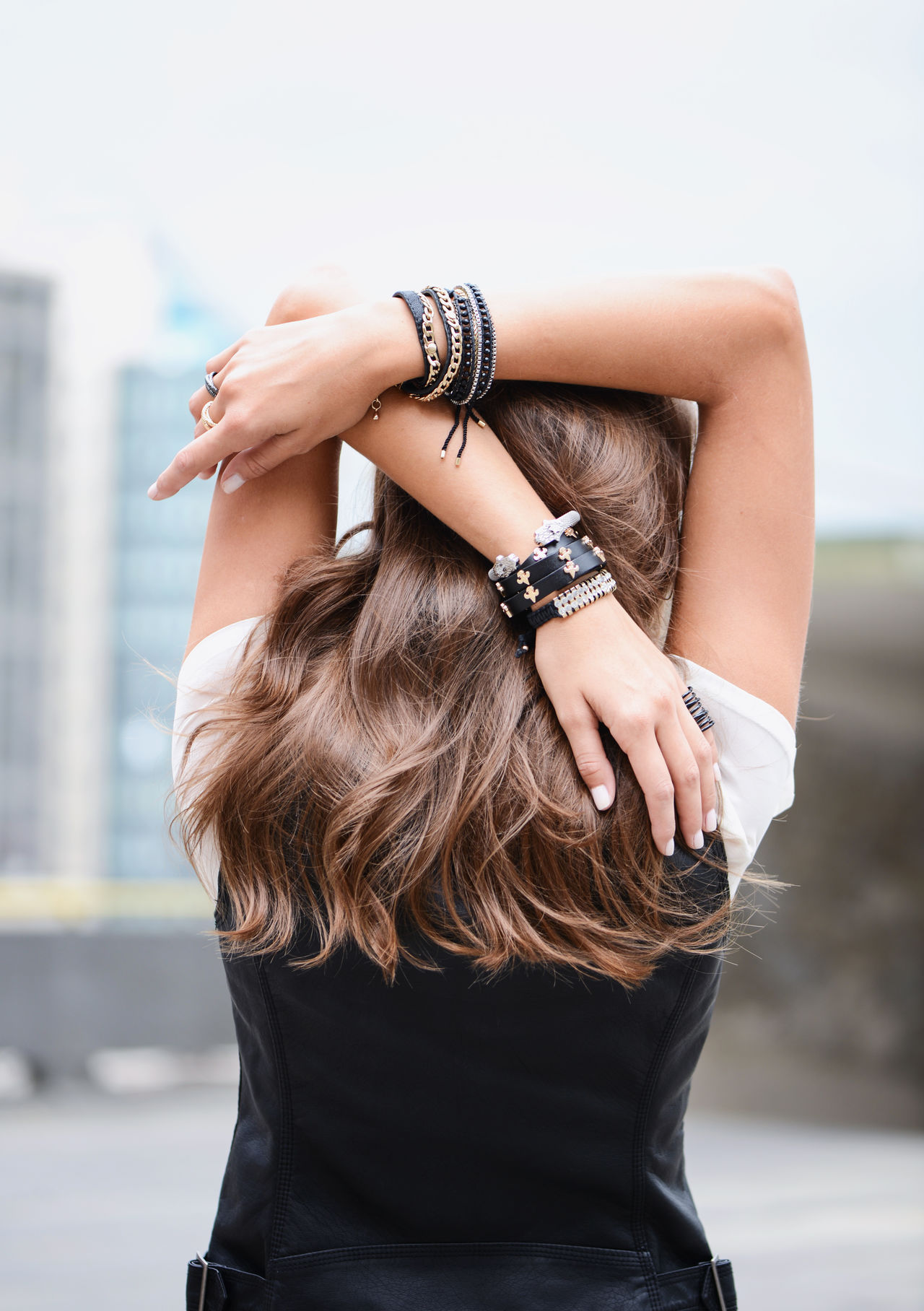 Accessories Back Beauty Day Detail Fashion Hair One Person Outdoors Shopping Shoulder Spine Woman Wristwatch Young Adult
