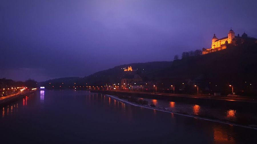Germany Castle Würzburg Sunset Revier Main Outdoors Festung Clouds And Sky Cloud - Sky River View