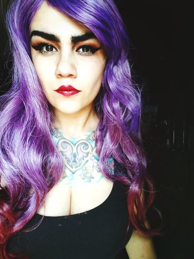 Individuality Glamour Make-up One Person Beautiful Woman Wigs Are Awesome Make-up Headshot Portrait Makeupaddict