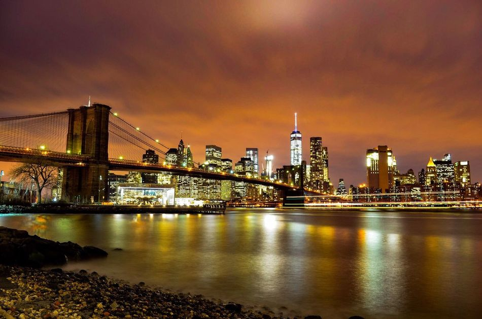 New York New York City Brooklyn Brooklyn Bridge / New York Brooklynbridge Long Exposure Newyork Nicola Nelli Picoftheday Bestoftheday Picture Freedom Tower Empire State Building