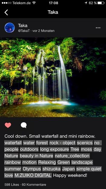 From My Eyes To Yours Waterfall_collection Water Reflections Rainbow Beauty In Nature Travel Destinations Not From Me Wonderful Day Enjoy The Silence Celebrate The Moment Celebrate Life ✨✨✨ Celebrate The Little Things