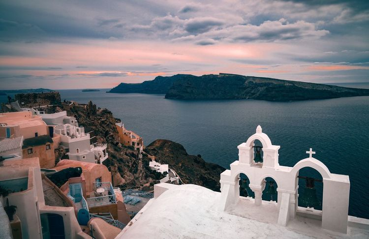 Sunset at Santorini Sea Sunset Architecture Travel Destinations Religion Beach History Outdoors Sky No People Scenics Vacations Mountain Building Exterior Built_Structure Dome Water Day Horizon Over Water Whitewashed EyeEmPhilppines EyeemPhilippines Eyeemph Be. Ready. Fresh on Market 2017