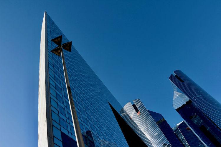 The Graphic City Blue Sky Skyscraper EyeEmNewHere