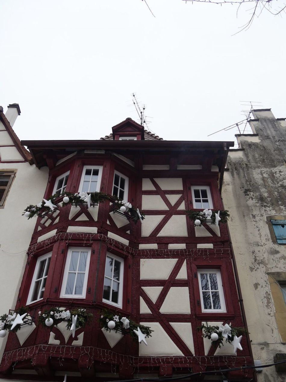 Eguisheim Alsace France Half-timbered House Building Exterior Architecture Built Structure Low Angle View Sky No People Outdoors