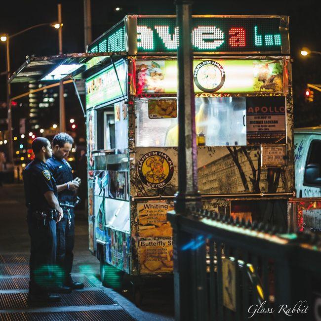 Police Vendor Fastfood NYC Photography Nycnight NYCNights DOPE Photo Harlemstreetphotography Streetphotography