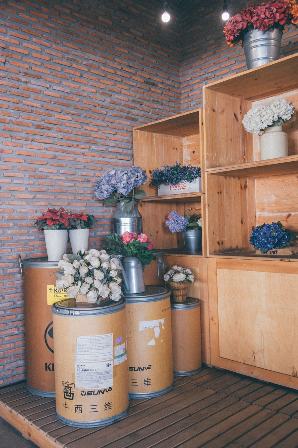 Adapted To The City Box - Container Cardboard Box Flower Flower Shop Indoors  Label Shop Storage Compartment Store Vase Vintage Wood Lieblingsteil Lieblingsteil
